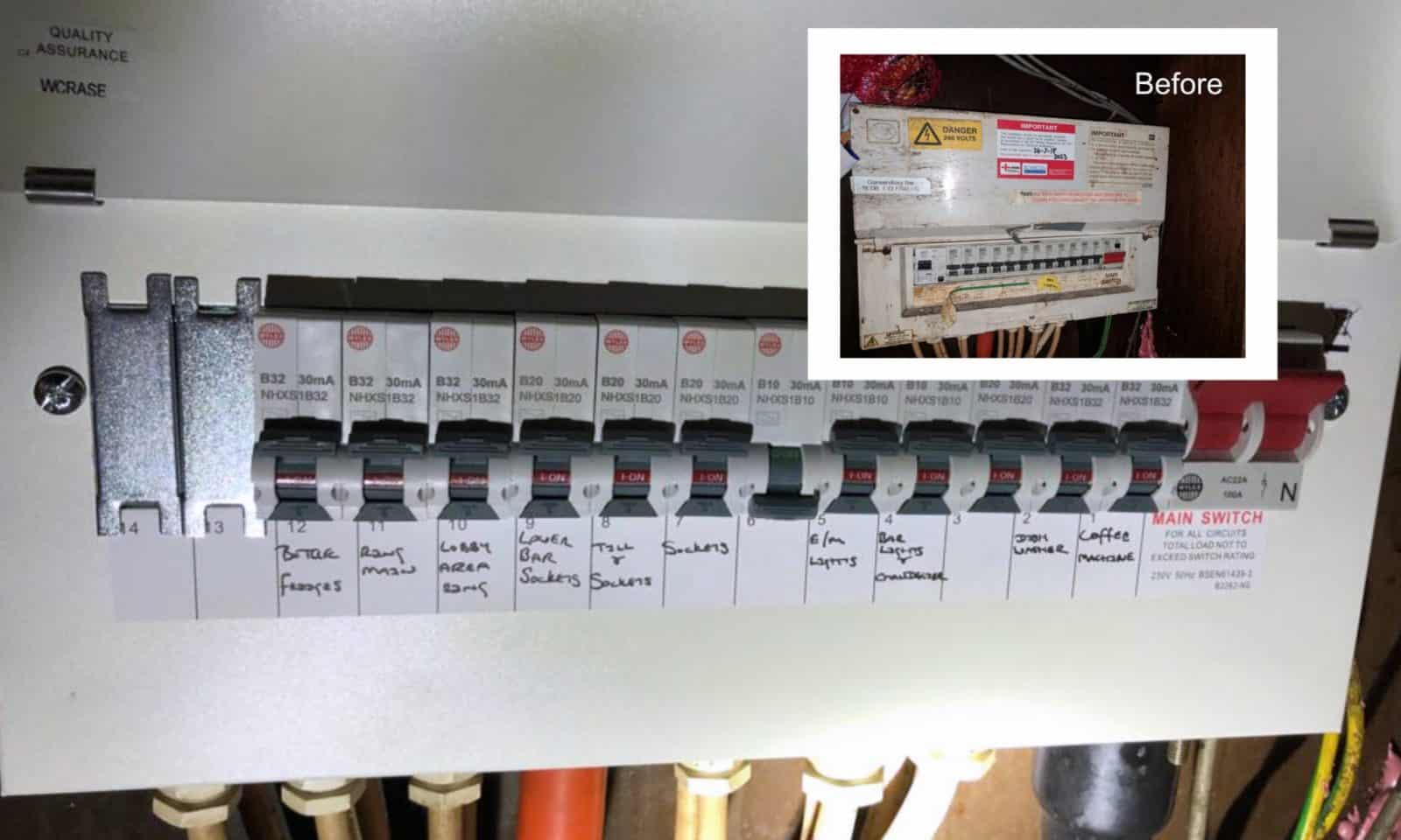 fuse board before and after
